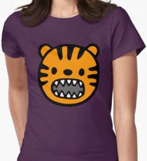 Tête de tigre marrante Womens Fitted T-Shirt