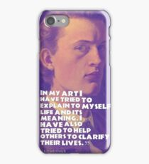 Inspirational quotes - Edward Munch 11 iPhone Case/Skin