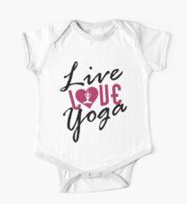 Live, Love, Yoga Kids Clothes