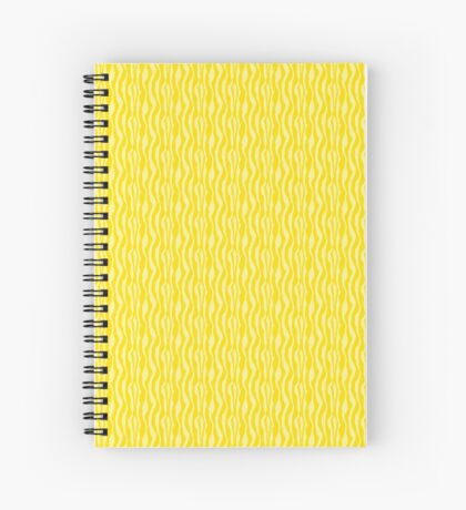 Yellow Zebra Print Pattern Spiral Notebook