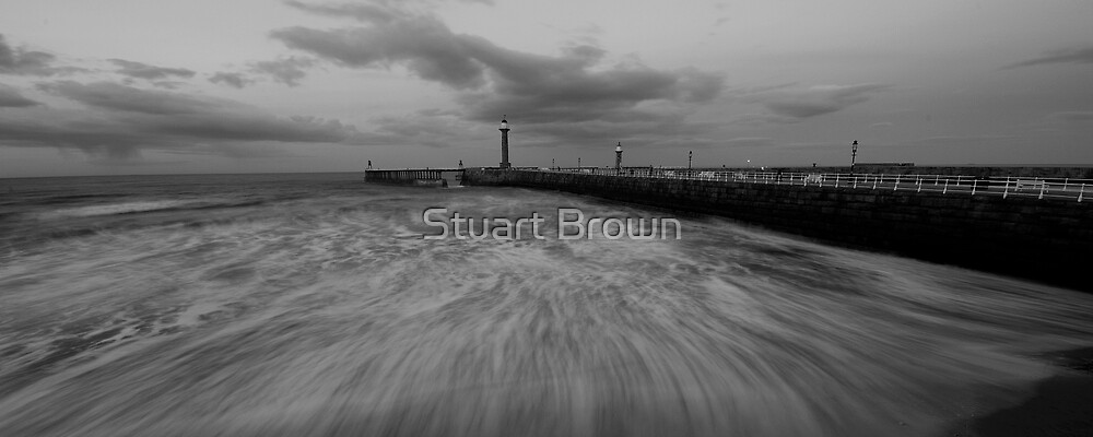 The ever moody pier by Stuart Brown