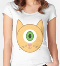 Cyclops Cat Women's Fitted Scoop T-Shirt