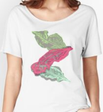 Summery Banana Leaves Women's Relaxed Fit T-Shirt