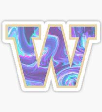 University of Washington Psychadellic  Sticker