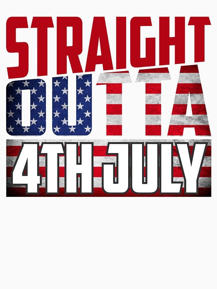 StraightOuttathe 4th of July independence national day Shirt by bestdesign4u