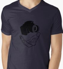 Levitating camera . Mens V-Neck T-Shirt