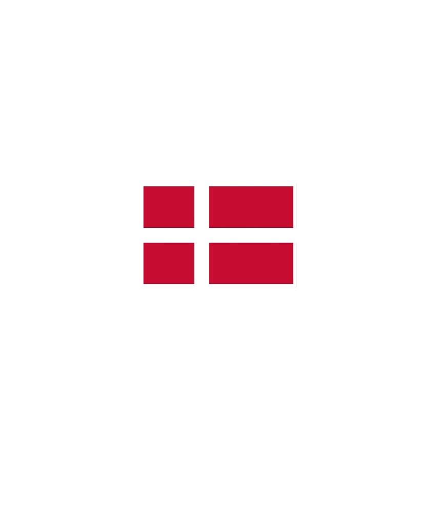 Denmark Flag National Pride by TrevelyanPrints