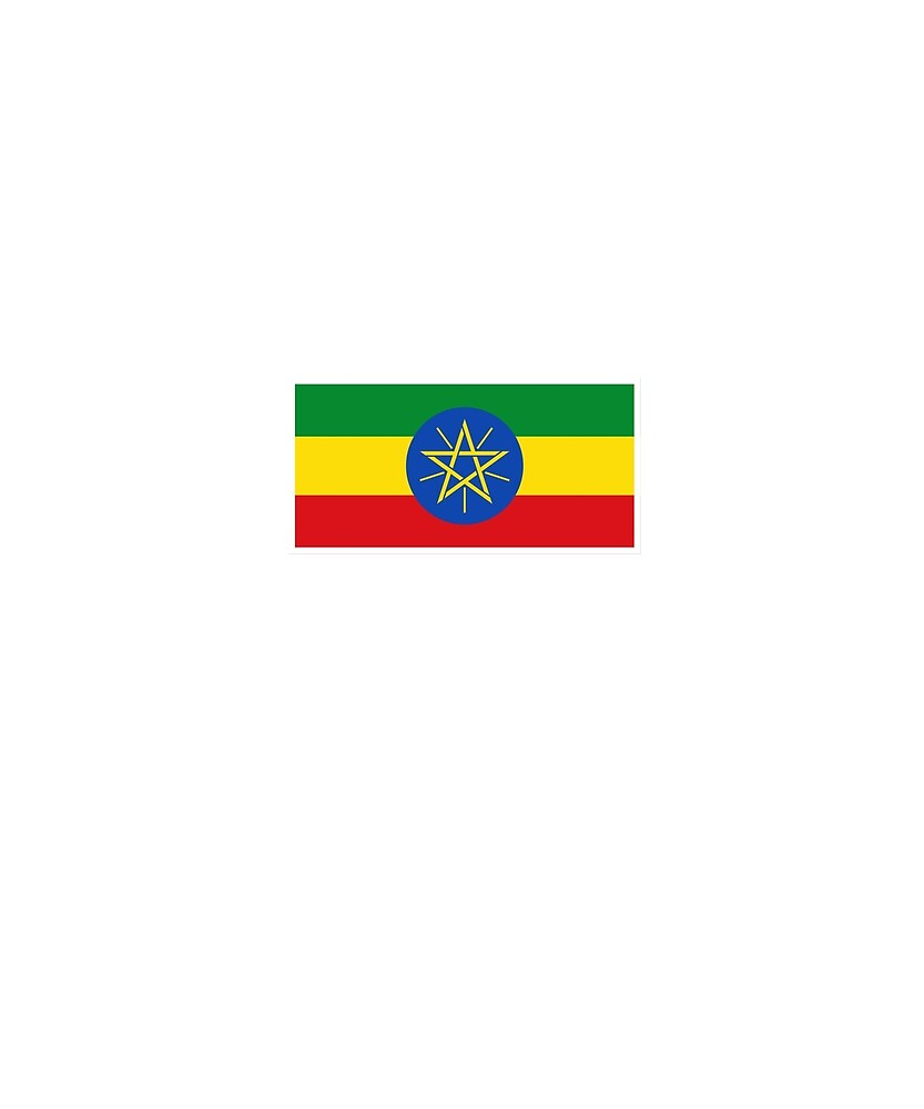 Ethiopia Flag National Pride  by TrevelyanPrints