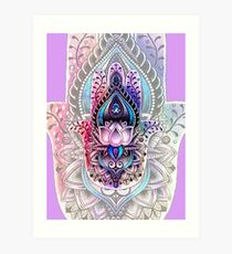 Color Hamsa 2 - Lavender Art Print