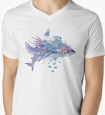 Journeying Spirit (Shark) V-Neck T-Shirt