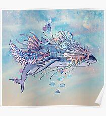 Journeying Spirit (Shark) Poster