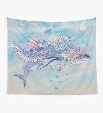 Journeying Spirit (Shark) Wall Tapestry