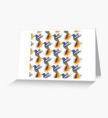 Hummingbird Pattern Greeting Card