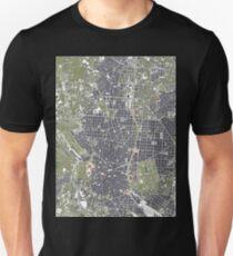 Madrid city map engraving Unisex T-Shirt