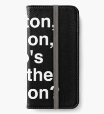 BUT White iPhone Wallet/Case/Skin