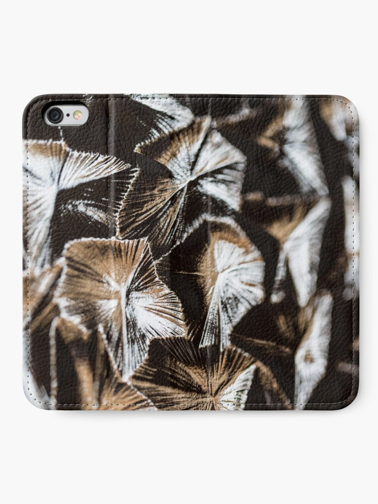 Alternate view of Fluted glass pattern retro iPhone Wallet