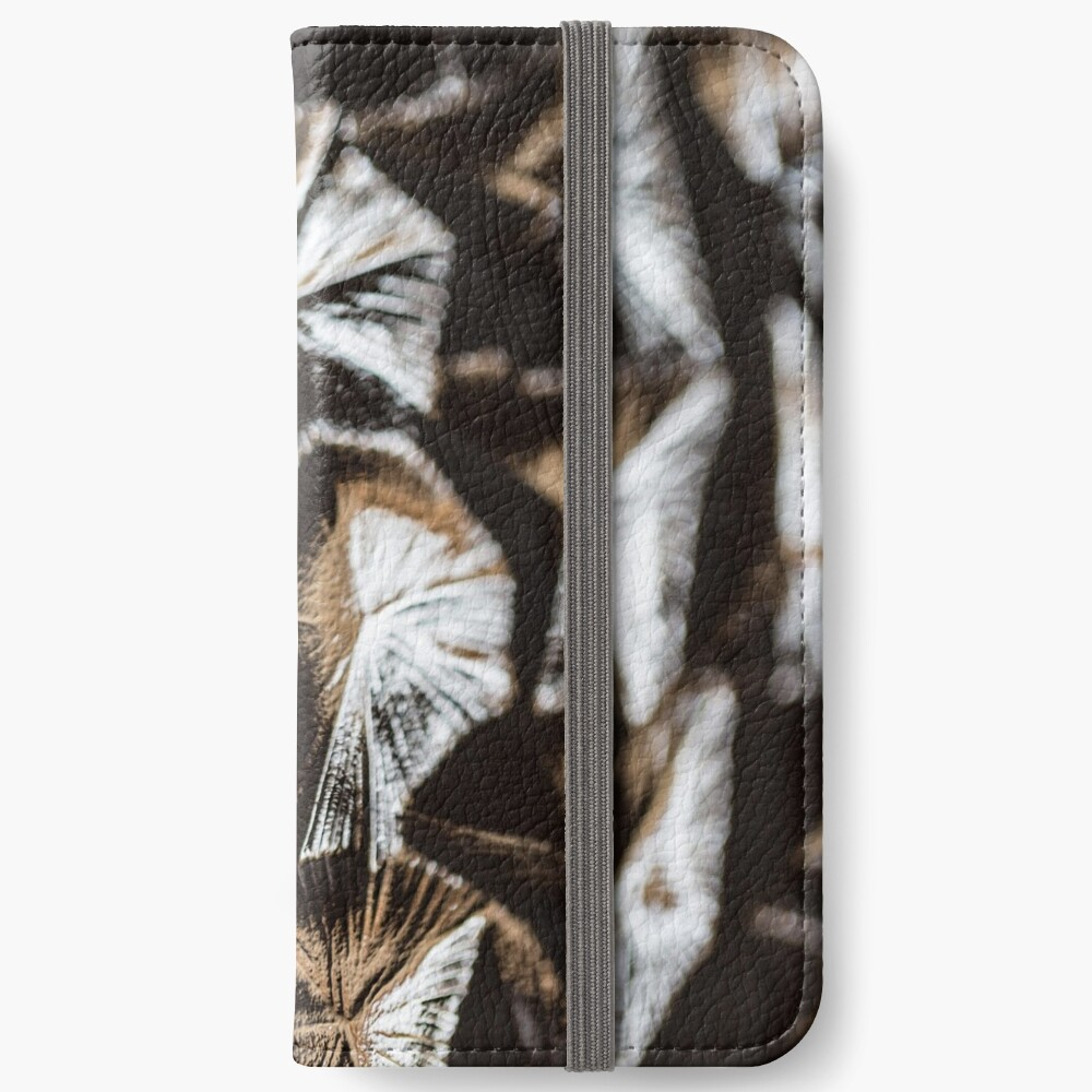Fluted glass pattern retro iPhone Wallet