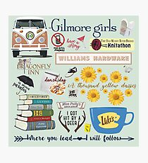 Gilmore Girls Collage, mint green Photographic Print
