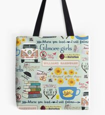 Gilmore Girls Collage, mint green Tote Bag