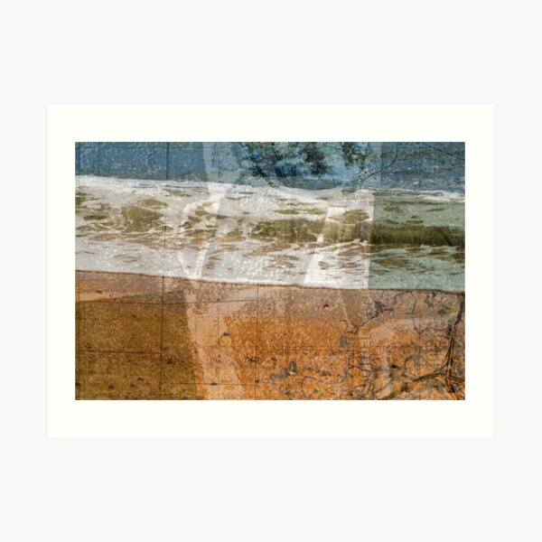 toss your cares out to the sea Art Print