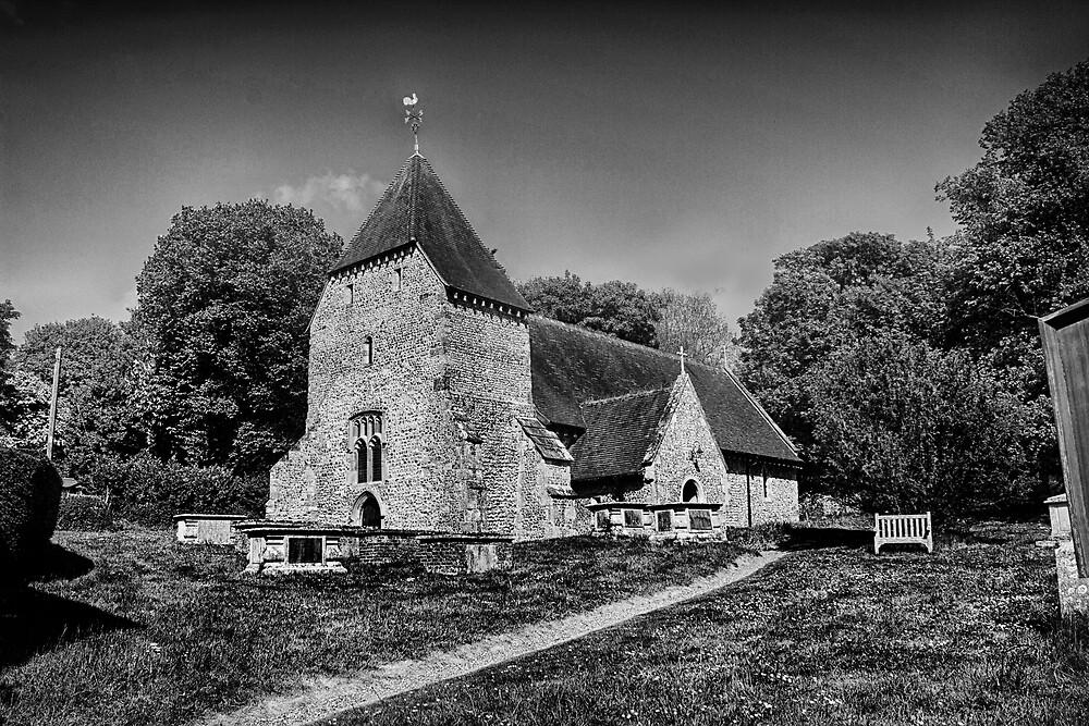 West Dean Church by Dave Godden