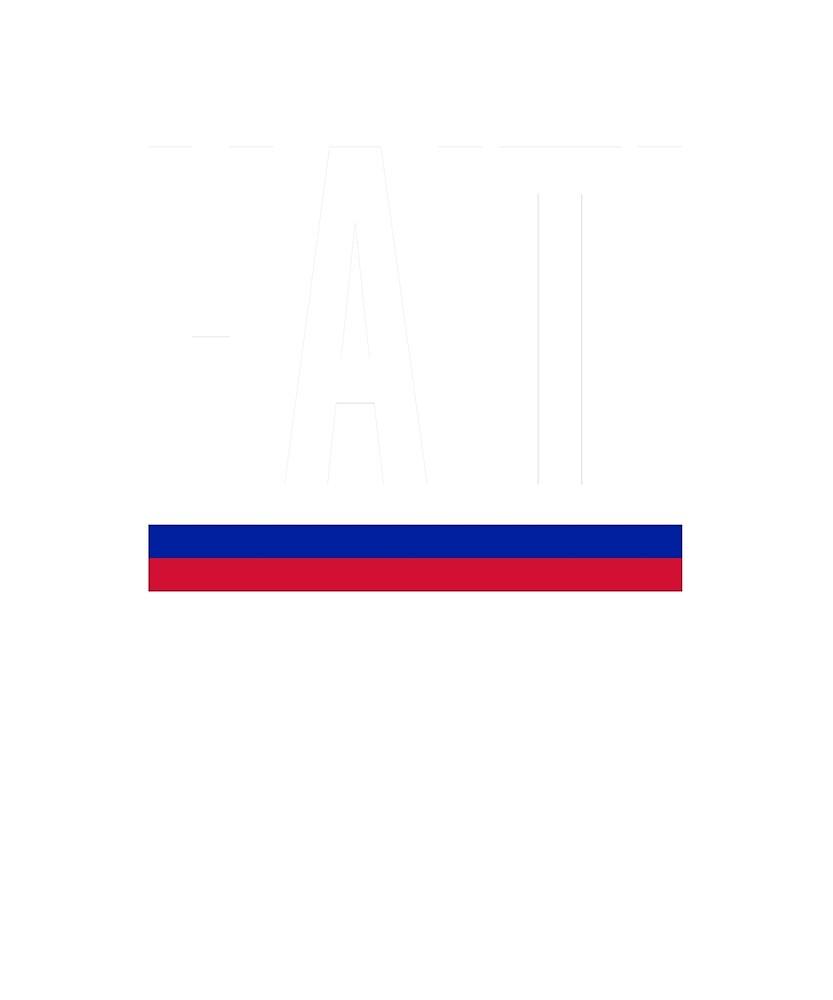 Haiti Flag National Pride  by TrevelyanPrints