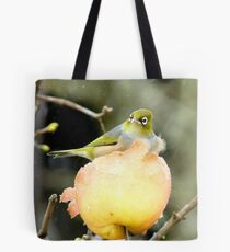 Snow Is One Thing!!..But Wind.. It's Just The CHERRY on Top!! - Silver-Eye - NZ Tote Bag