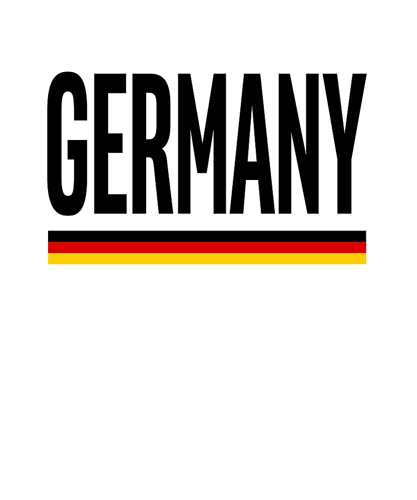 Germany Flag National Pride by TrevelyanPrints