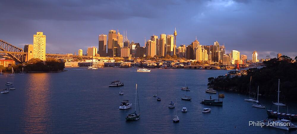 Glow - Sydney Harbour & Skyline, Australia by Philip Johnson