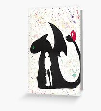 HTTYD - Water Color Greeting Card