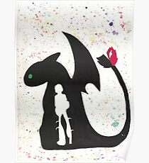 HTTYD - Water Color Poster