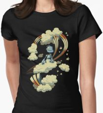 Flying Robot Womens Fitted T-Shirt