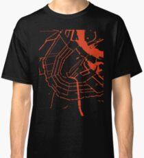 Amsterdam city map engraving Classic T-Shirt
