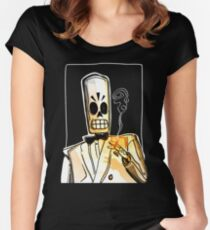 Manny Calavera Women's Fitted Scoop T-Shirt