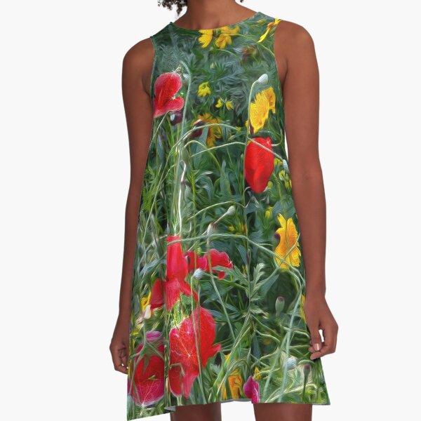 Wildflower Meadow A-Line Dress