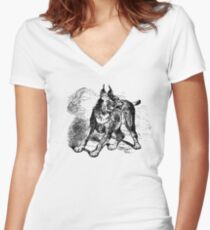 Caracal Women's Fitted V-Neck T-Shirt