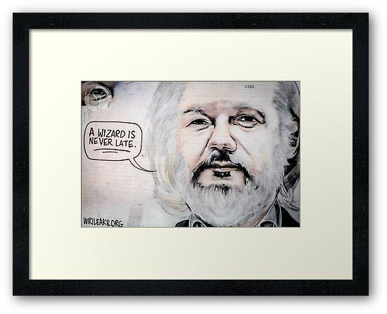 Julian Assange A Wizard is Never Late by STiLFocus
