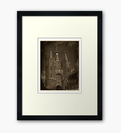 Web scam: The past present. Framed Print