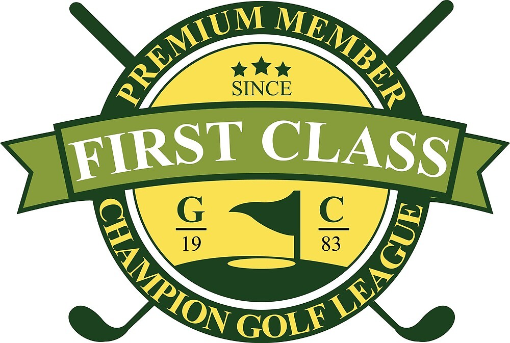 First Class Golf Sticker by AmorOmniaVincit