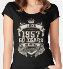 June 1957 60 Years of Being Awesome Women's Fitted Scoop T-Shirt