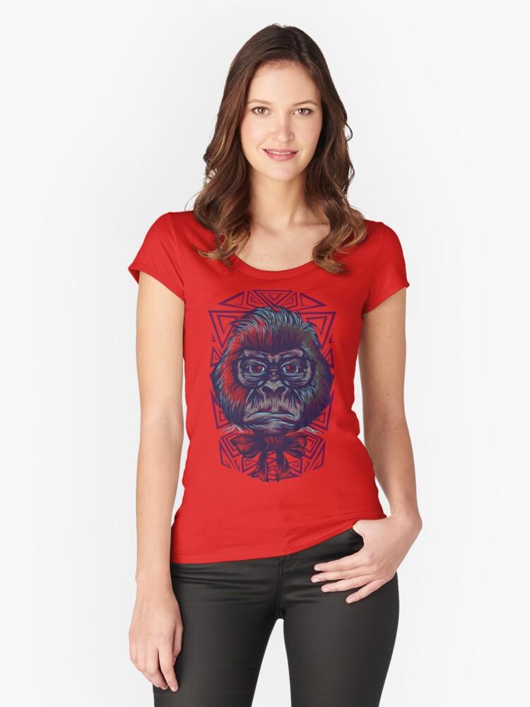 Gorilla Edu Women's Fitted Scoop T-Shirt Front