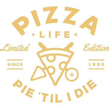 Pizza Life - Gold Print by brookerdesignco