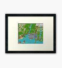 16 Bit Pixel Land Framed Print