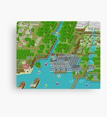 16 Bit Pixel Land Canvas Print
