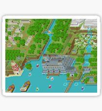 16 Bit Pixel Land Sticker