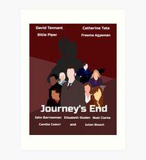 Journey's End retro print Art Print