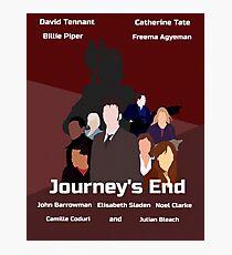 Journey's End retro print Photographic Print