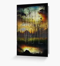 Going Viral Amber Sky Greeting Card