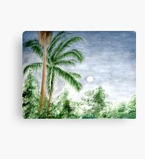 Palm Trees at Dusk Canvas Print