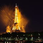 Paris' Eiffel tower is burning by Remy NININ